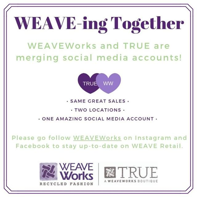 Friendly reminder that we are combining our social media accounts! Follow @weave_fashion  to get all the latest on ALL our locations!