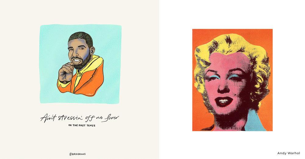 Drake vs Andy Warhol