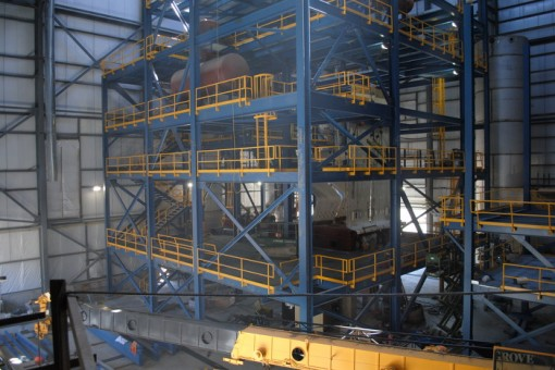 A view from inside the cogeneration plant