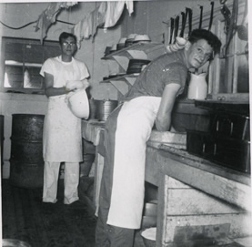 Image of Carl Haavaldsrud in our cookery in 1958