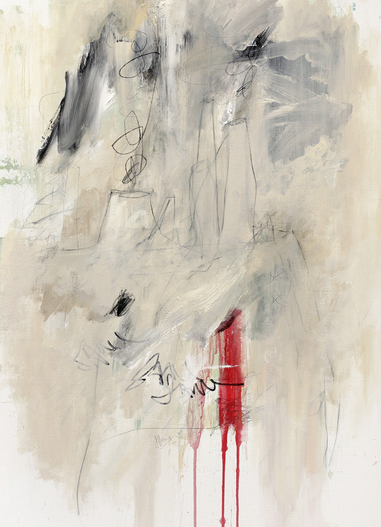 """Bloodline"", Sander Steins, mixed media on canvas, 70x100cm, 2015, 2.100,00 EUR"