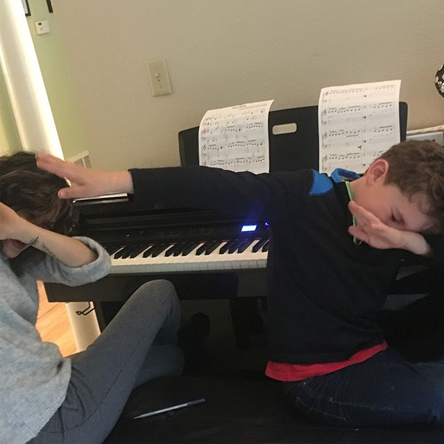 Sometimes we learn things from our students! Today our teacher Samira was taught the proper way to dab by one of her piano students. Also as of today we currently have 300 current private students. Thanks to all the students, parents, and teachers who made this possible. Let's keep spreading the joy of music for years to come!😀🎸🎼🎹🥁🎉