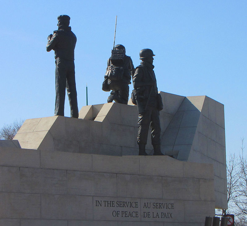 Peacekeepers' Monument in Ottawa source: D. Gordon E. Robertson, Wikipedia
