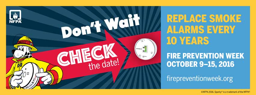 Click to visit the official NFPA website to read more about Fire Prevention Week 2016!!