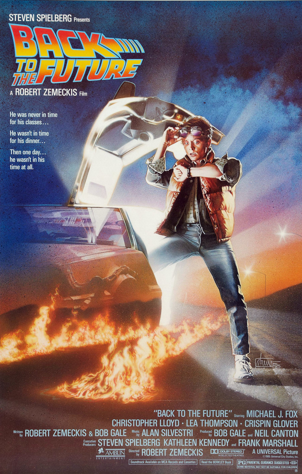 BACK TO THE FUTURE (1985) Spoken my Doc Brown/Christopher Lloyd