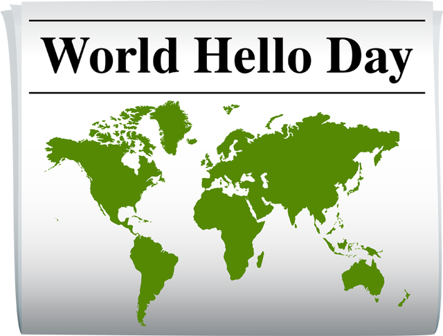 Click the above poster for more information on WORLD HELLO DAY!!