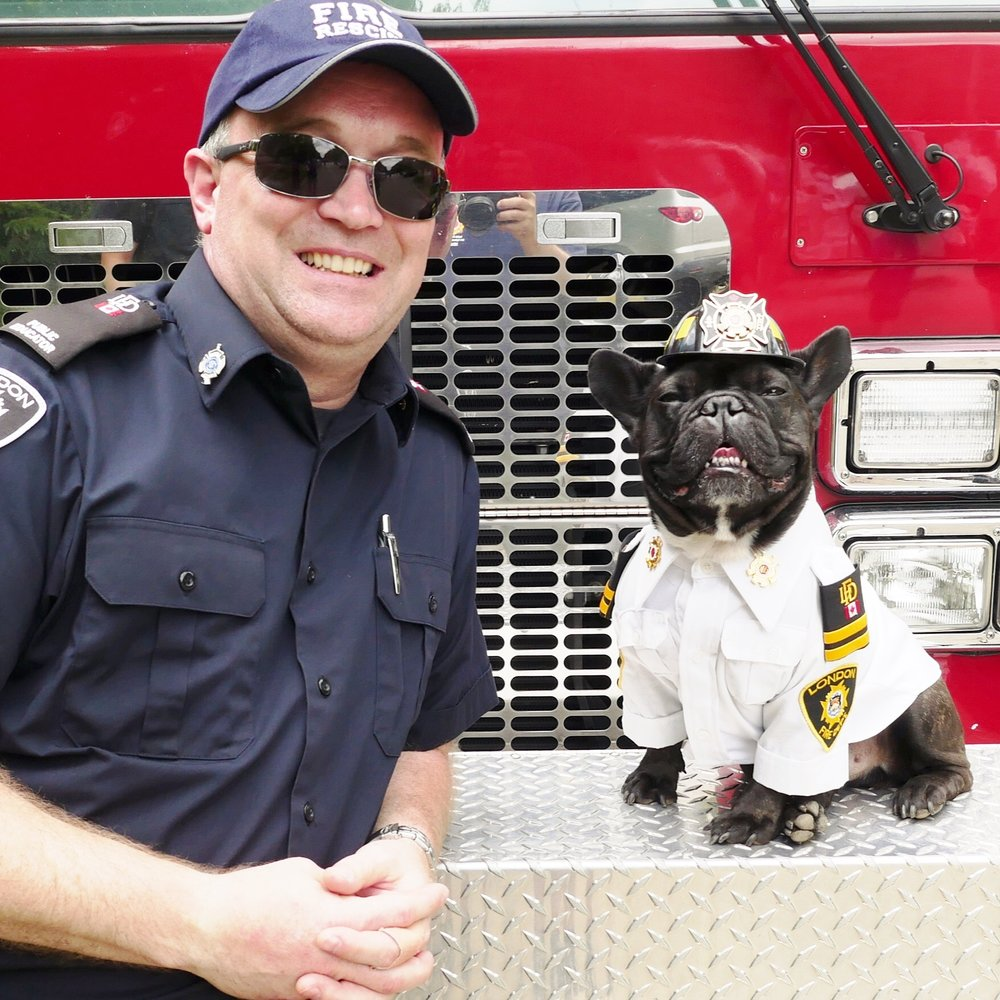Archie and his Fire Safety Partner, Firefighter Jason Poole!