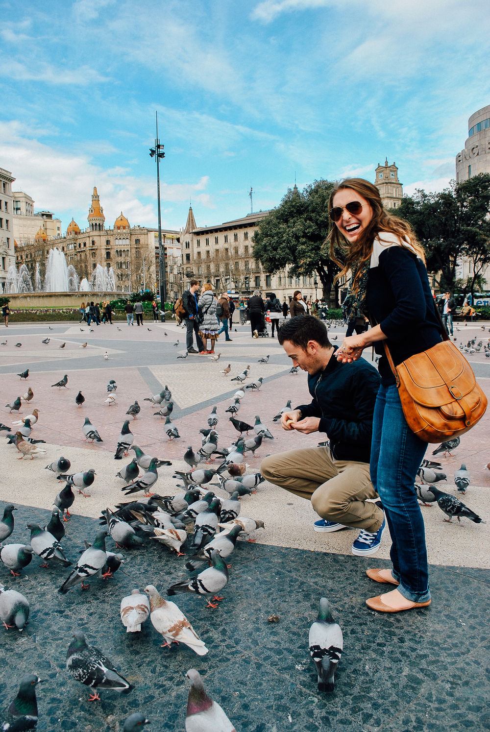 Feeding pigeons just because