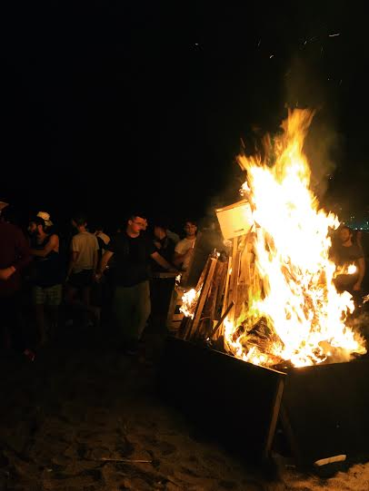 What's safer?  Massive bonfires while inebriated or witches roaming the earth on this night?