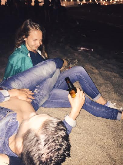 At 3:43 am, Tatiana and I were sitting on the edge of the beach in front of the ocean waves with some locals just hanging out and this guy stumbles backwards about 7 feet, almost out of nowhere, and literally trips backwards on Tatiana and falls over her. We couldn't stop laughing. We dubbed him Poseidon.