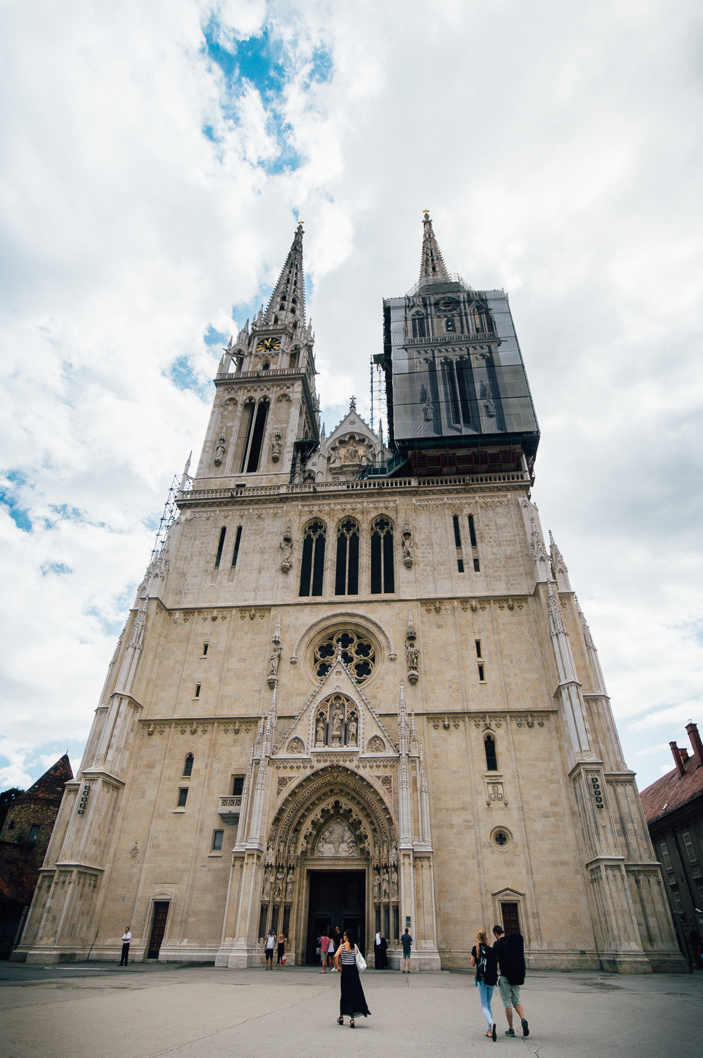 Cathedral of the Assumption of the Blessed Virgin Mary (longest Cathedral name ever?). This Cathedral is always under construction because it is made of limestone, which is not the sturdiest in weather conditions. It's also the tallest building in Croatia.