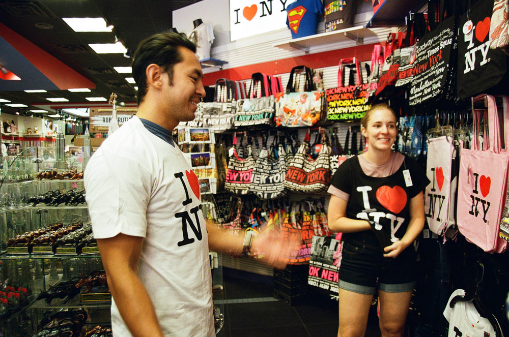 We all bought matching I <3 NYC Shirts. I wear mine all the time. No shame