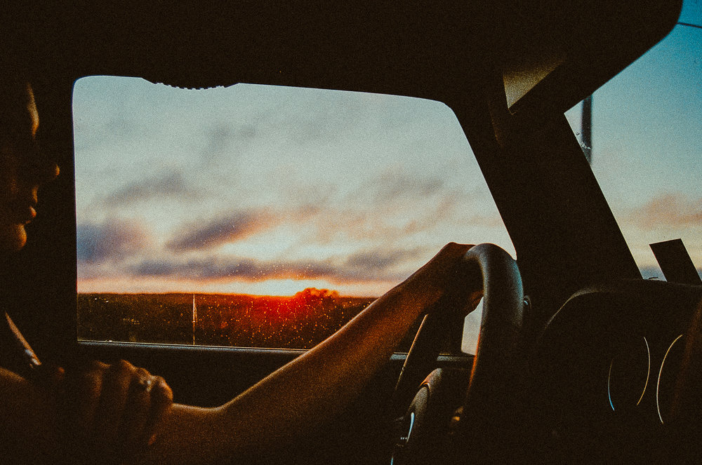 Sunset from Tristan's Jeep
