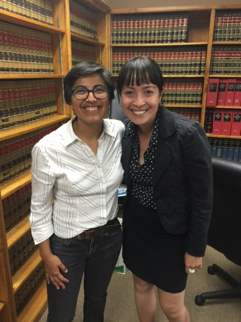 With Lisa Cisneros—California Rural Legal Assistance's wonderful LGBT Program Director. And we coincidentally have 3 friends in common—all of whom are fighting the good fight! (Small world.)