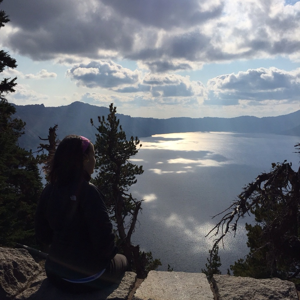A snapshot from nearly a month ago when I first arrived in Oregon—at Crater Lake National Park