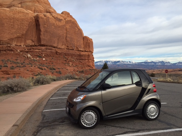Getting closer—and look, no more snow! No snow = a happy Smart car. <knock on the wood> :)