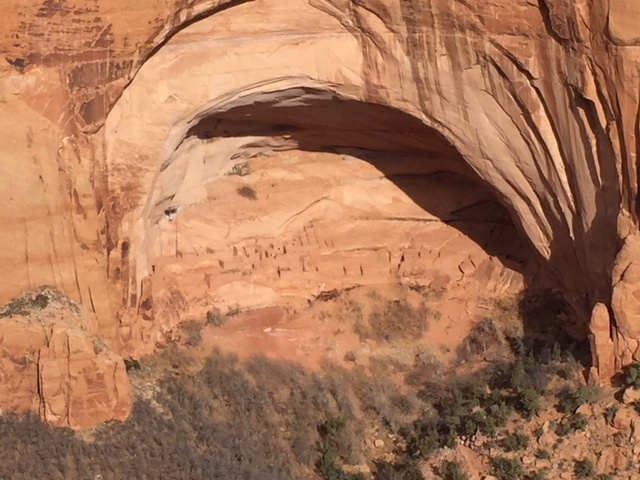 Inside of this alcove on the Navajo reservation is Betatakin, a series of cliff dwellings of the Ancestral Puebloan People. It was one of the most inspiring sights I've ever seen.