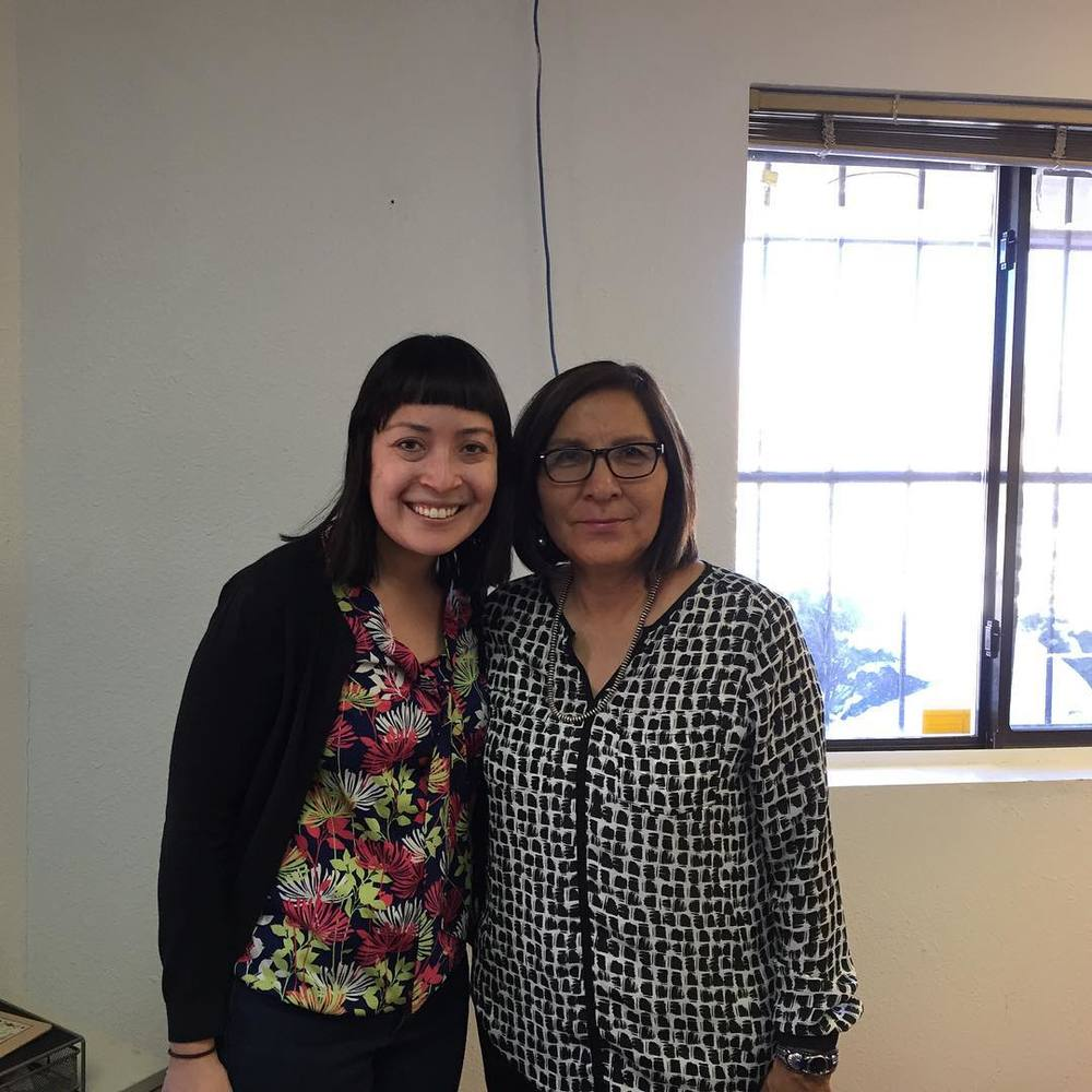With Louise Grant, my colleague at the office on the Navajo Nation—and former Associate Justice at the Navajo tribal court. Click here for more of an insight into how reservations are among the poorest communities in the US.