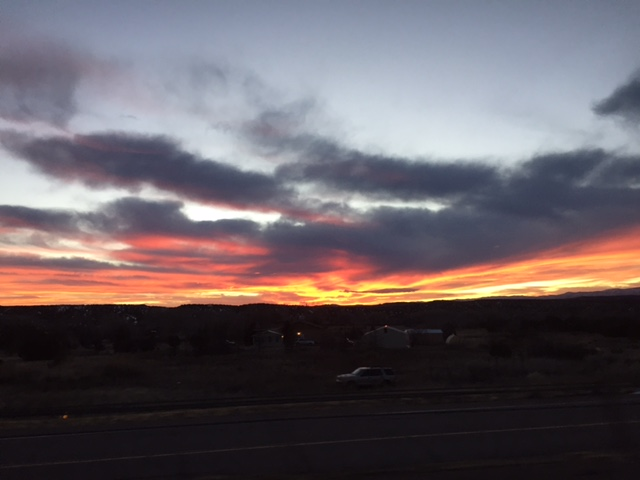 One of New Mexico's legendary sunsets. Ahhhh.