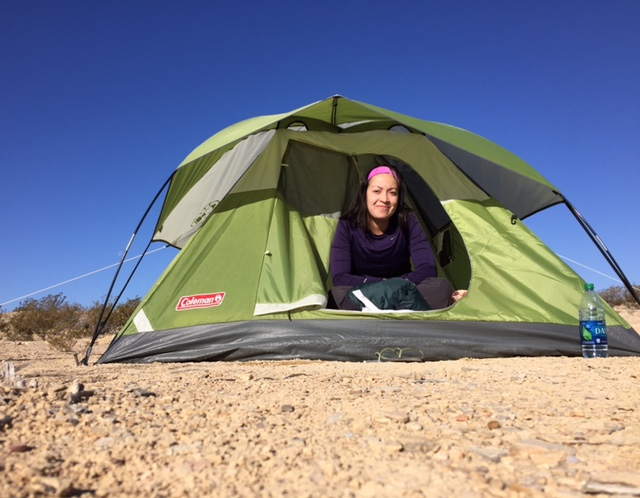 Camping on the Rio Grande just north of the US/Mexico border in Terlingua, Texas—days before starting work at the South Texas Detention Facility in Dilley, Texas