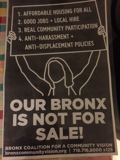 Community organizing in the South Bronx is something I have been fortunate to witness and interact with a bit. Adelante!