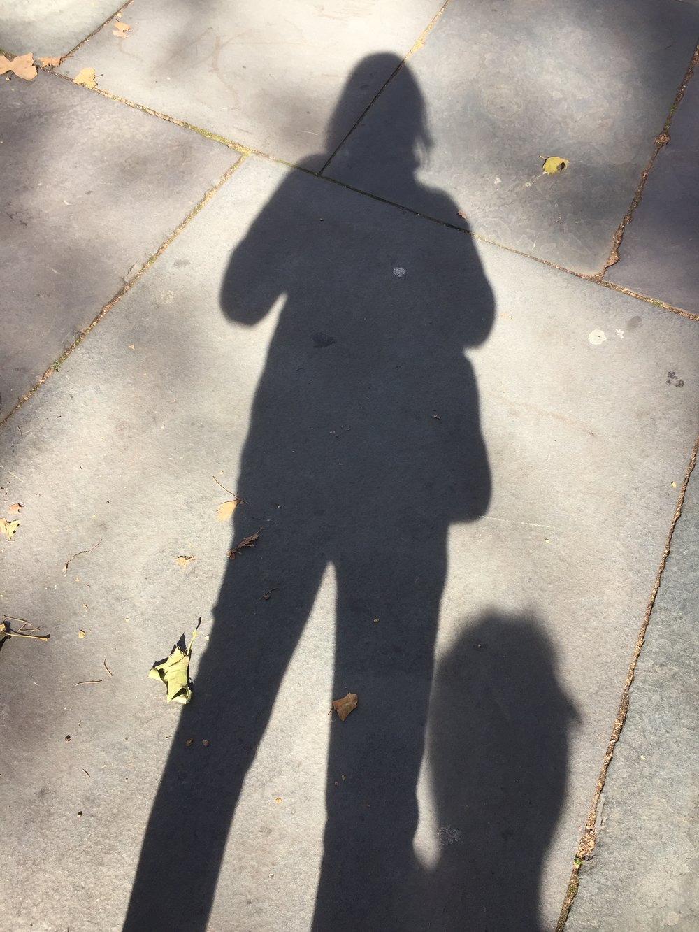 Catching my shadow while wandering around Philadelphia this past weekend