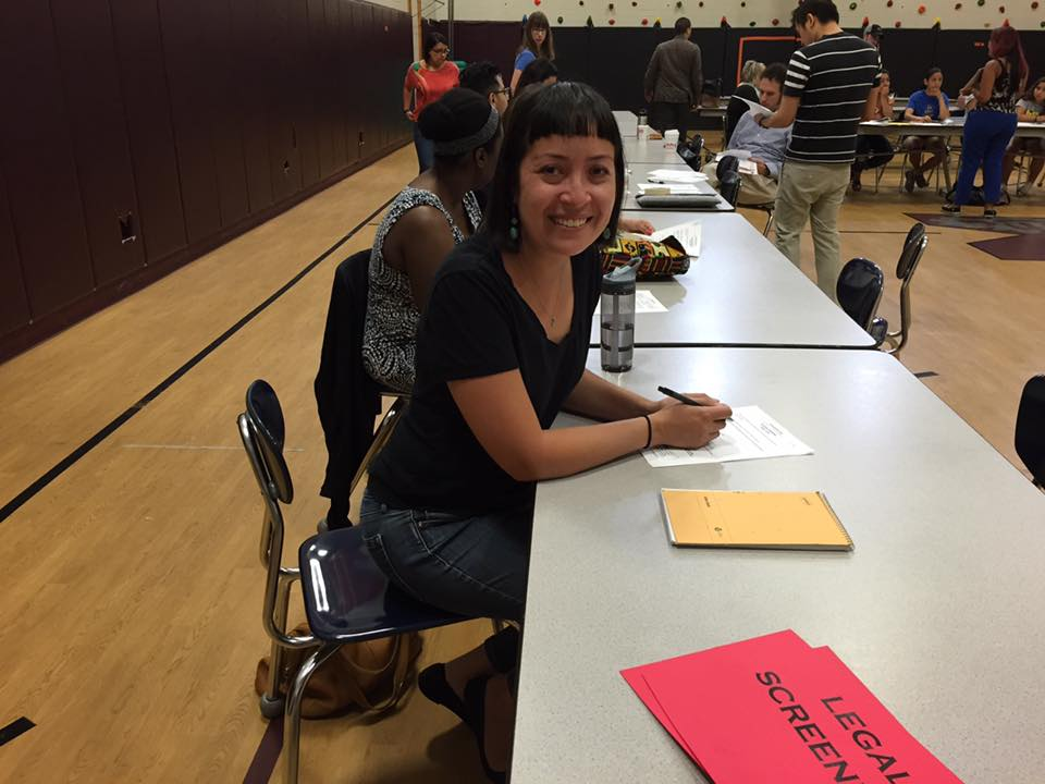 May-August 2016—Chicago, IL working with the National Immigrant Justice Center. This was me volunteering one Saturday at a DACA clinic at a local middle school.
