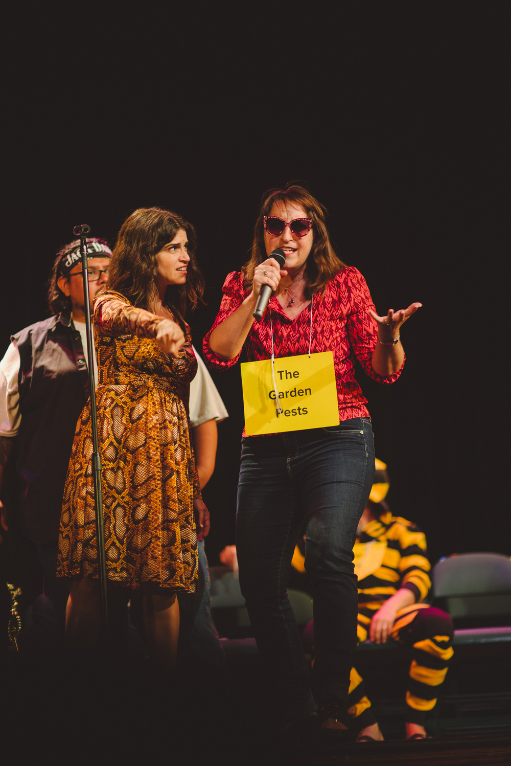 Rebecca Feldman and Speller at The Spelling Bee Company show