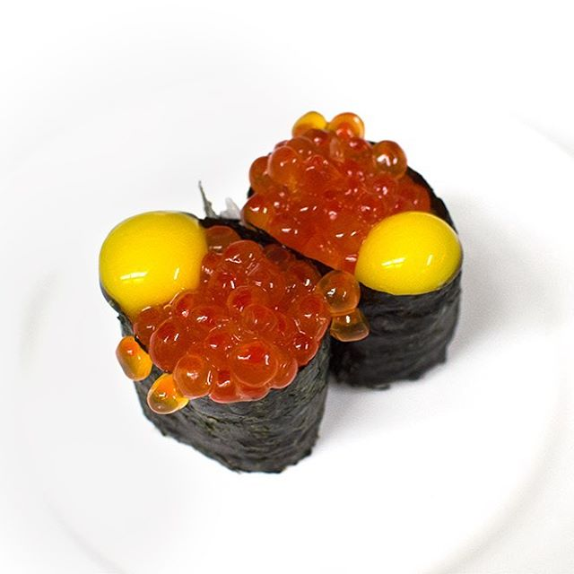 What's your favorite #sushi? Next time, try adding Quail Egg to your Ikura for a twist on your salmon roe! #dinnertime #OC #orangecounty #sushibar #besteats #yelpoc #OCeats
