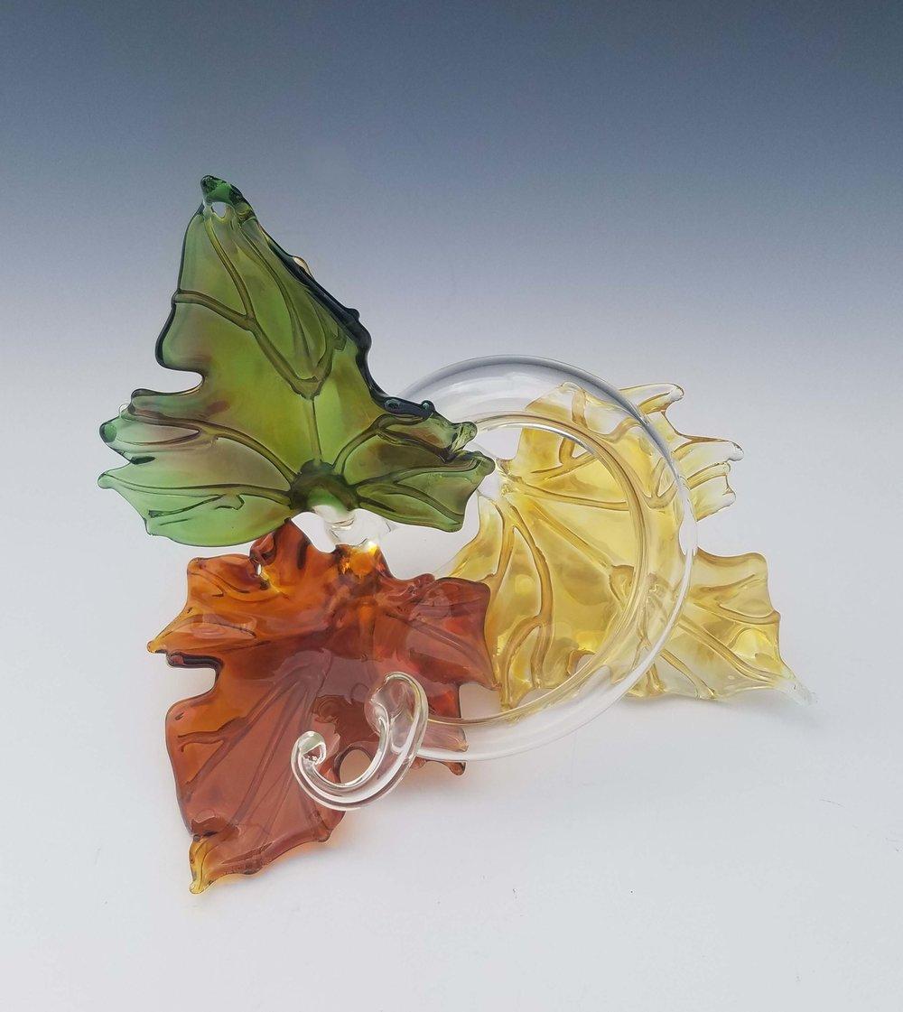 Trio Leaf Sculpture - multi front.jpg