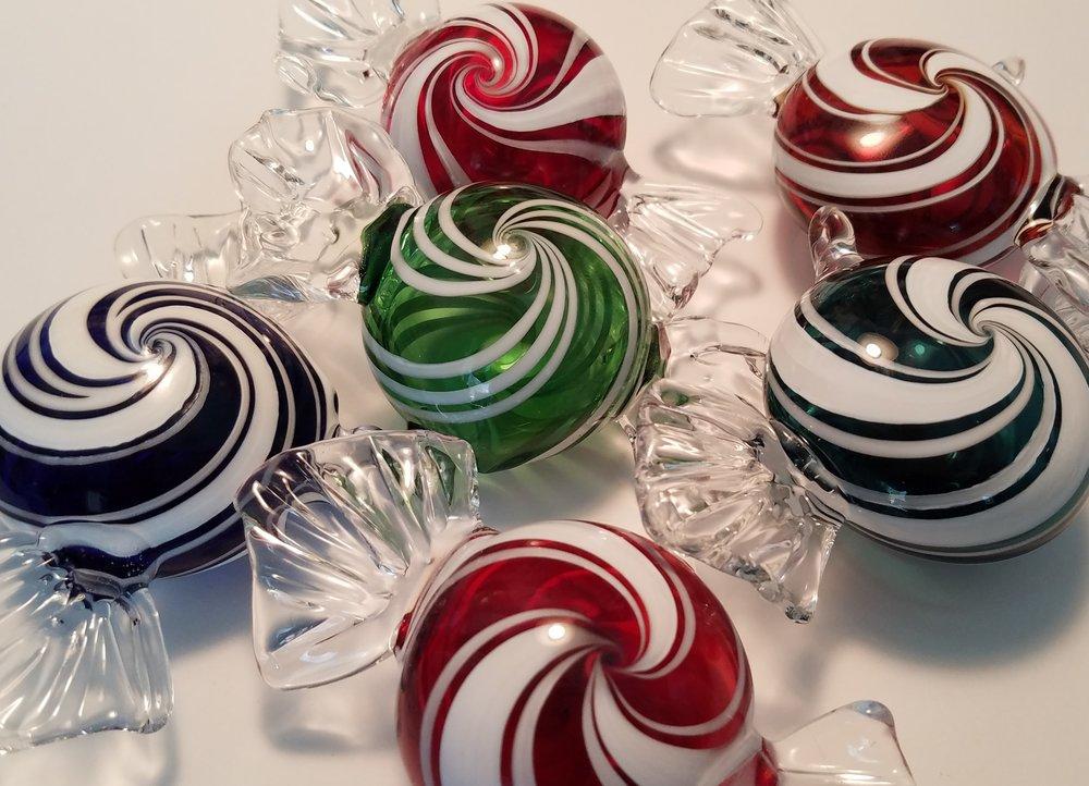 Candy Ornaments from Rowan Studios.