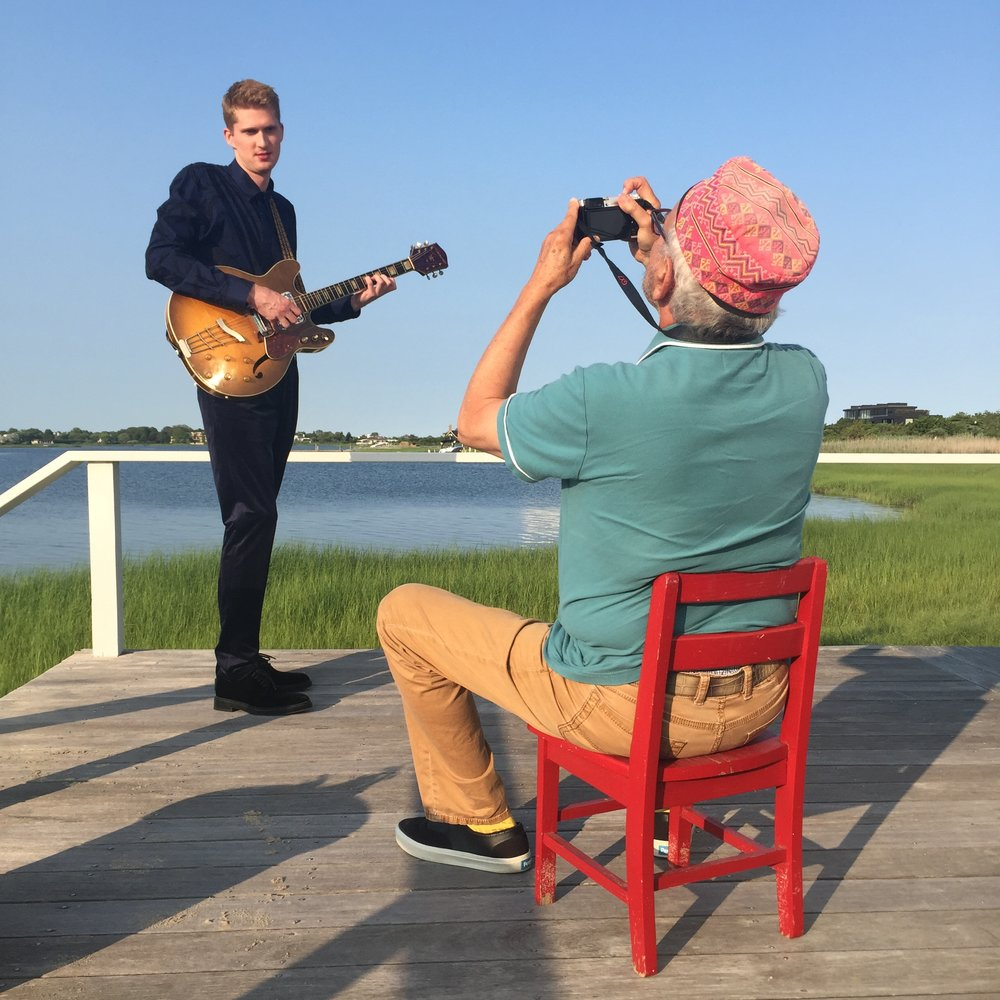 taking album cover portraits with Arthur Elgort. Southampton, NY. July 2016.