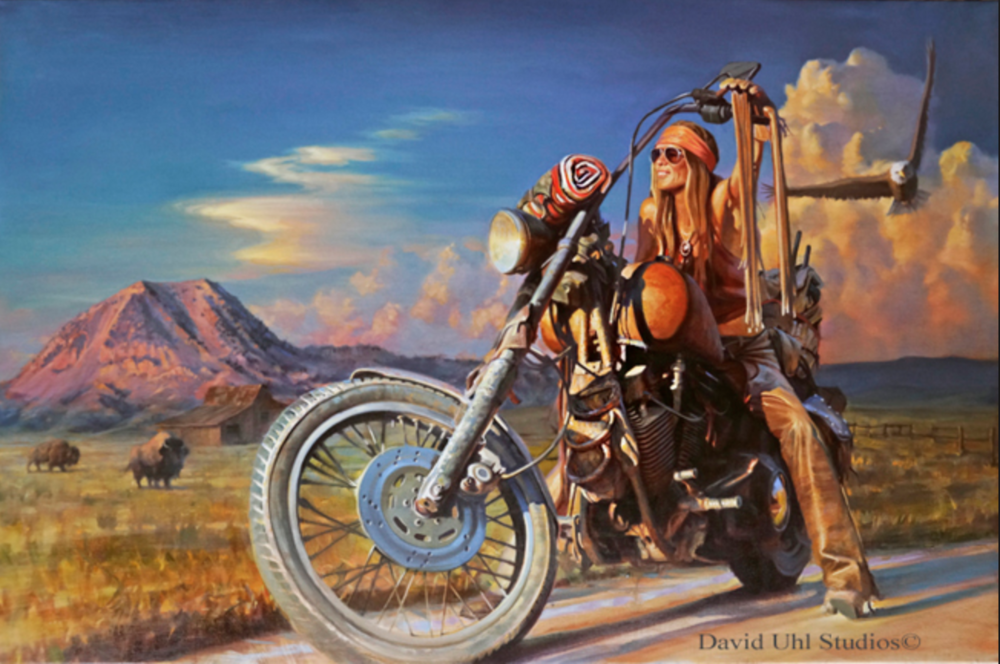 "Painting ""Free Spirit"" by David Uhl"