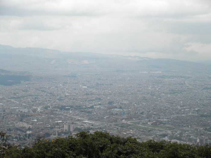 Bogota from Above - Cable-car and escalator systems are now rapidly improving access to major cities from poorer encampments on the mountainsides.