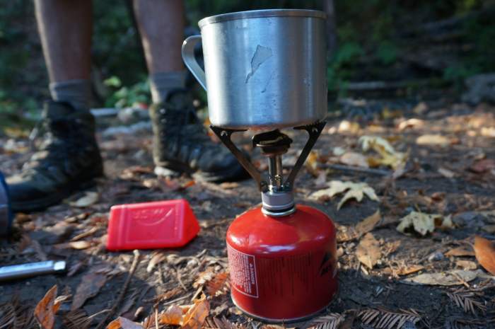 MSR Pocket Rocket - Our trusty, tiny stove.