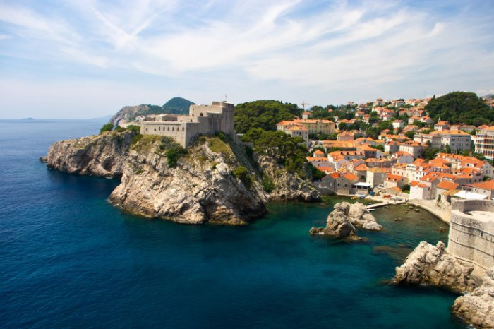 Dubrovnik, Croatia - The Castle Walls in this Medieval Port Town