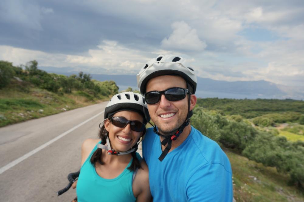 Enjoying a beautiful cycling descent on the Croatian island of Brac!