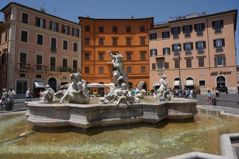 Piazza Navonna in the heart of Rome