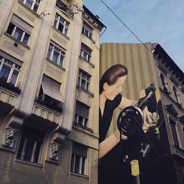 Found a street in Budapest today with amazing murals at every block #wallart #graffitiart #urbanart