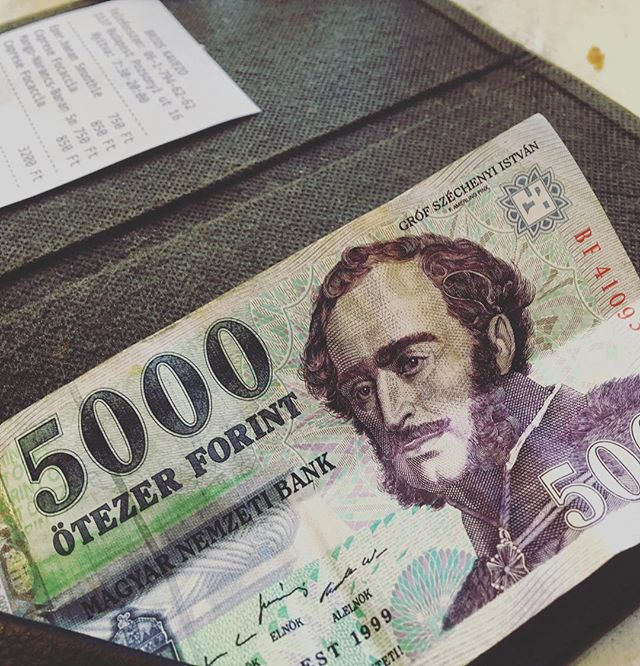 Why is money in European countries so much cooler than ours? Btw, that's 5000 forint bill is worth a little less than $20 #money