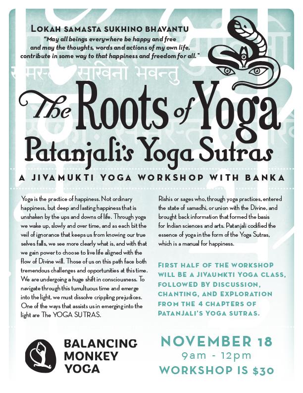 The Roots Of Yoga Patanjali S Yoga Sutras Balancing Monkey Yoga