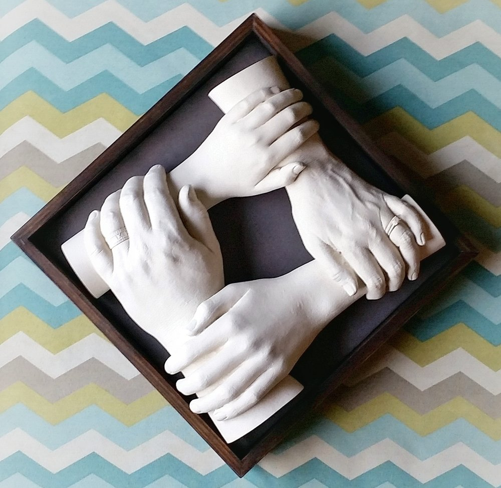 $100 -- Shadow Box for Four Hands, Hangs on Wall (White or Black)
