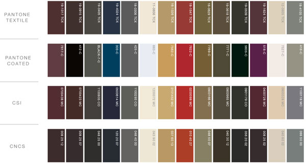 A/W 16/17 Color Reference Chart