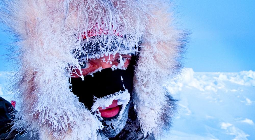 John Huston at –50°F on the way to the North Pole. @ John Huston