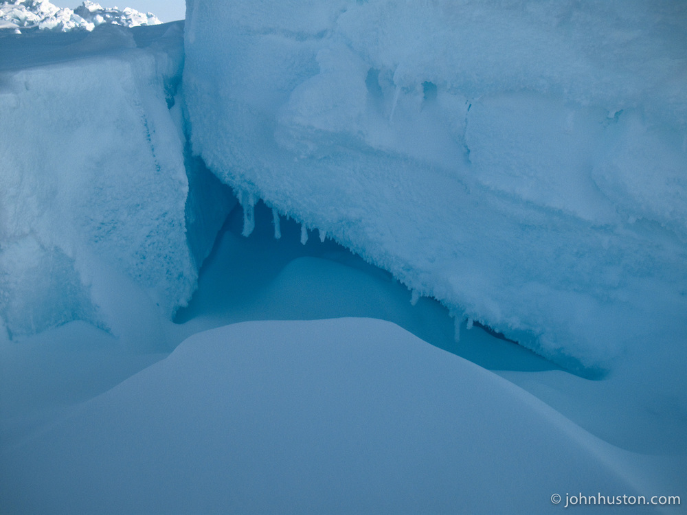 An Arctic ice cave.