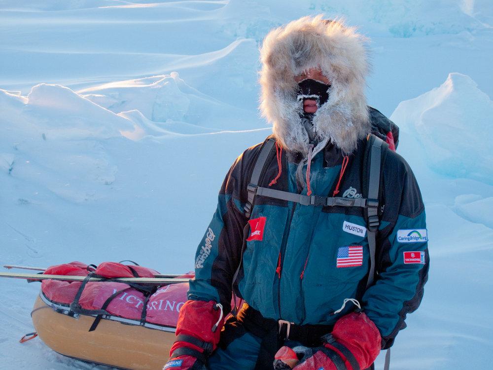 John Huston on a good cold day on the way to the North Pole. © John Huston