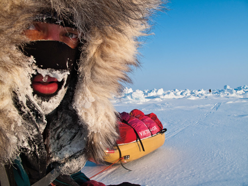 John Huston in the during the final push on the way to the North Pole. © John Huston