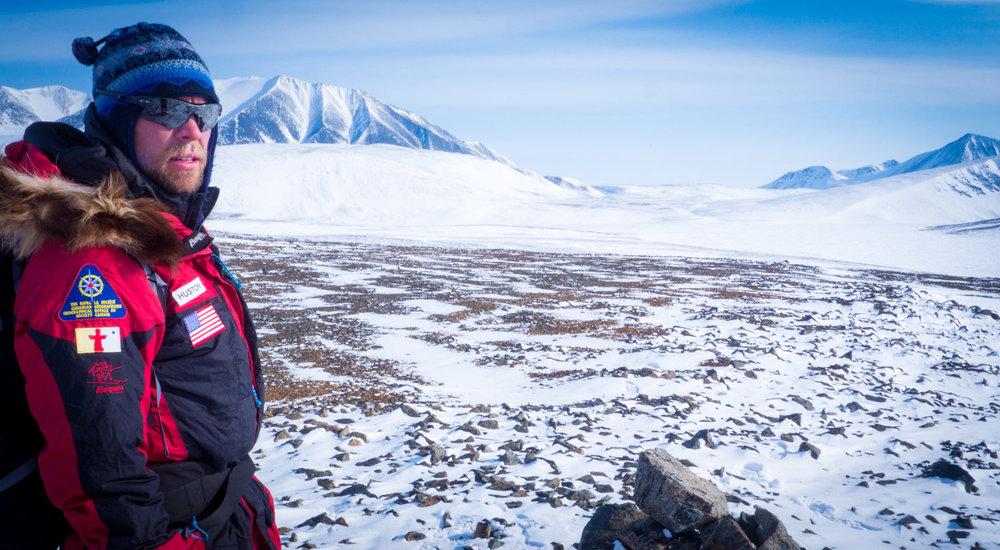 John Huston on the northern coast of Ellesmere Island, Canada. © Hugh Dale-Harris