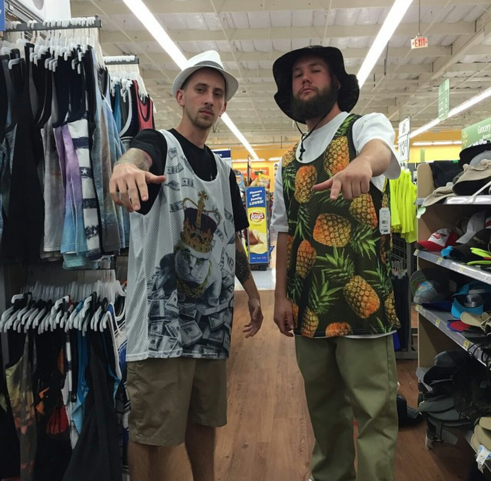 Zack & Nick trying on some new duds before the show.