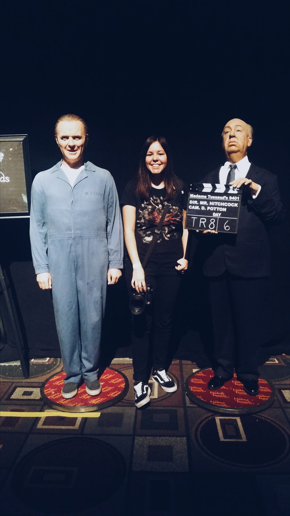 Me posing with  Hannibal and  Alfred Hitchcock